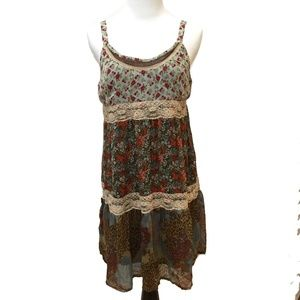 American Rag floral lace sundress boho hippy